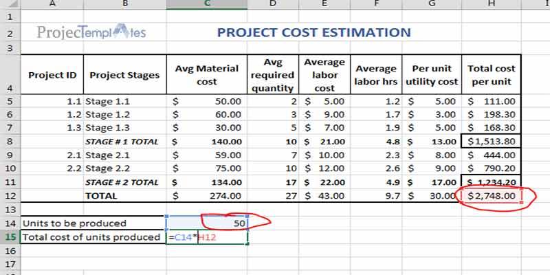Agile Construction Estimating Template
