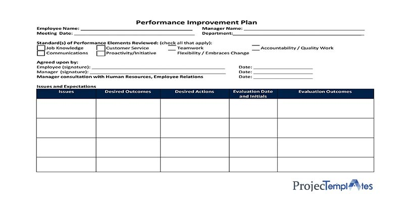 Employee Performance Plan Template Excel