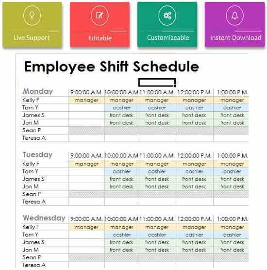 Employees-Duty-Roster-Template