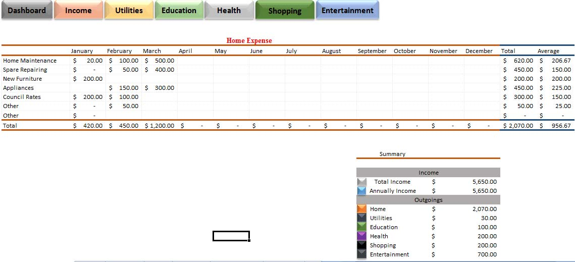 Construction Project Expense Tracking Template Excel