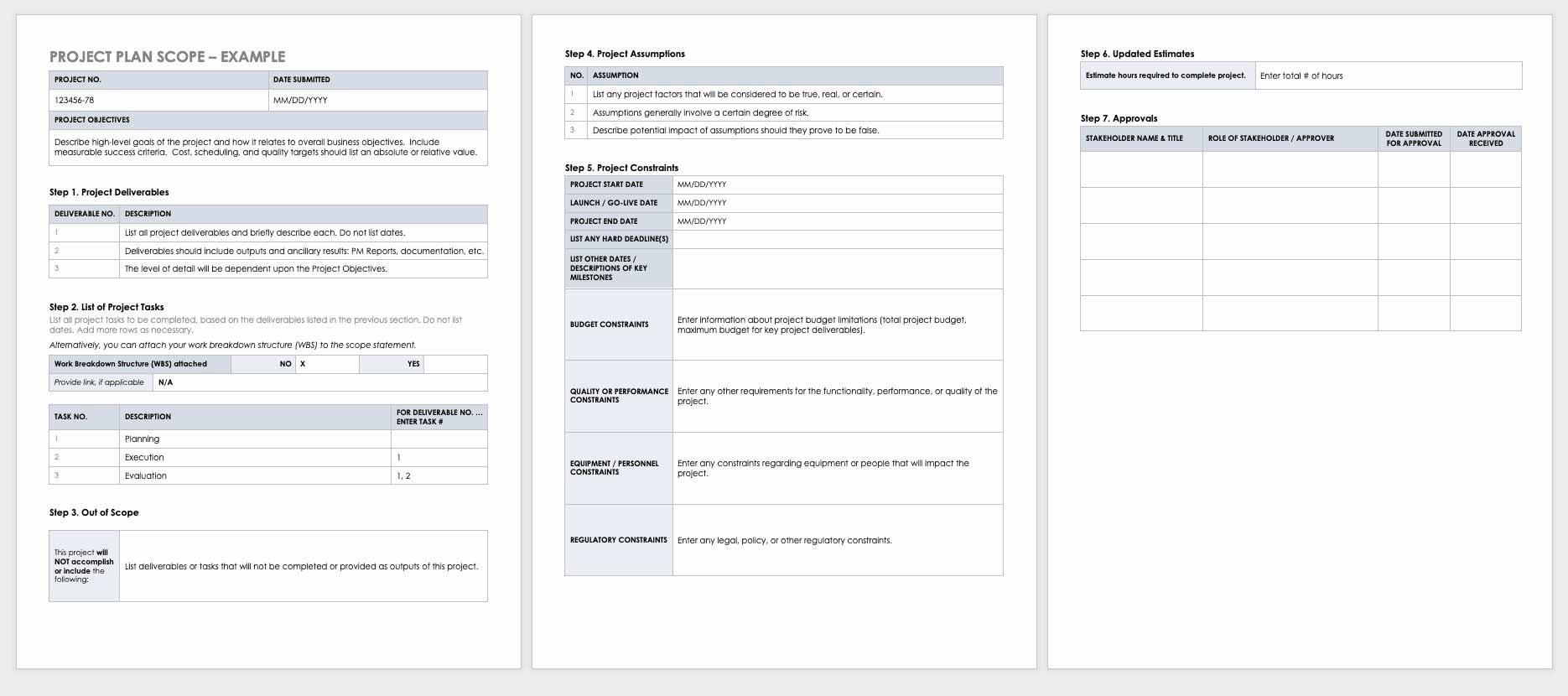 Project-Plan-Scope-Template